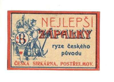 Old-Matchbox-label-s-188-AUSTRIA-CZECHOSLOVAKIA